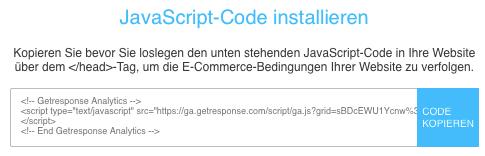 Auswahlbox JavaScript-Code installieren.