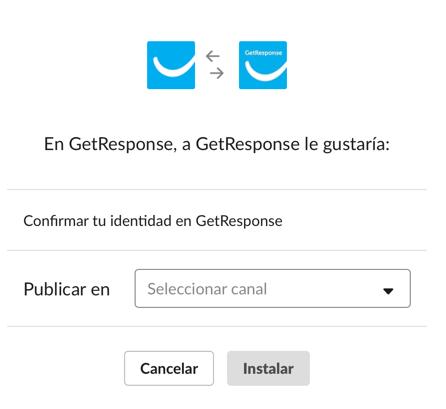 Conectar GetResponse con Slack.