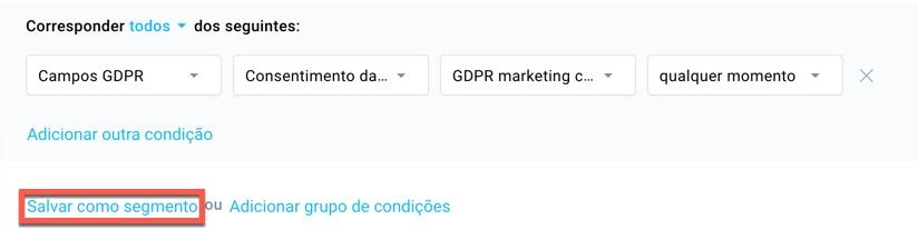 GDPR-Salvar como segmento