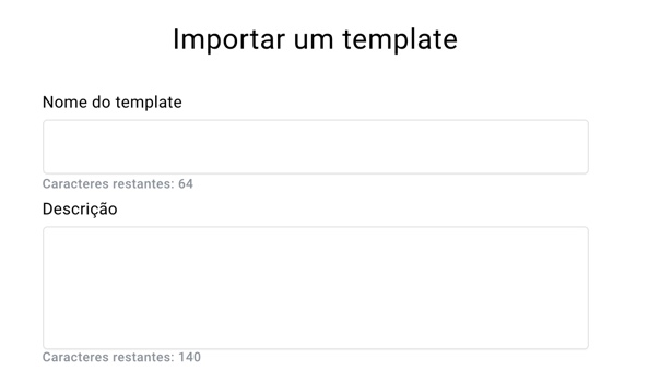 Importar template - menu