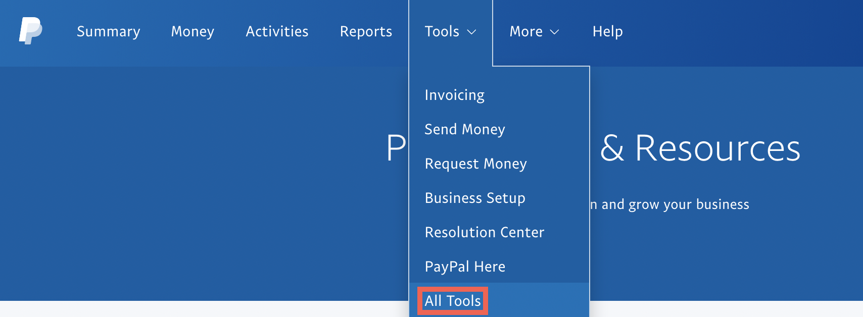 PayPal all tools.