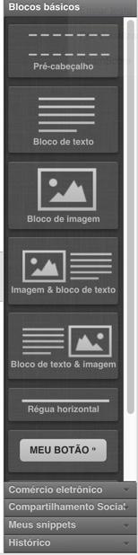 Mostradas opções na barra de ferramentas do editor de mensagens