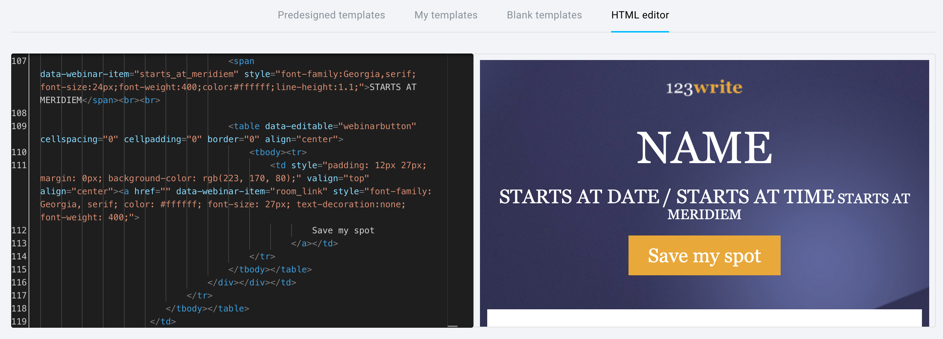 html editor.