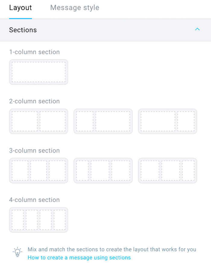 add sections.