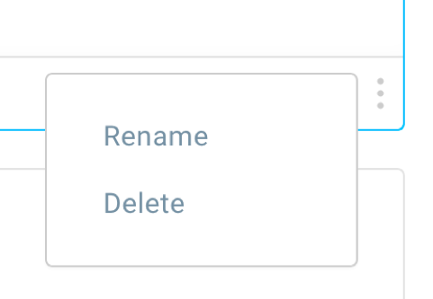 rename or delete saved block.