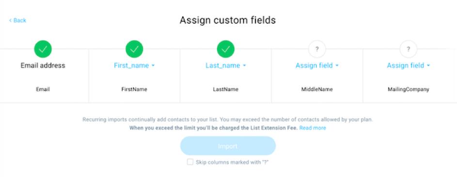 map custom fields.