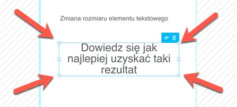 Skalowanie elementu tekstowego