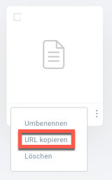 Auswahl URL kopieren.