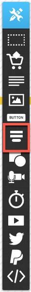 Formular hinzufügen im Landing Page Editor.