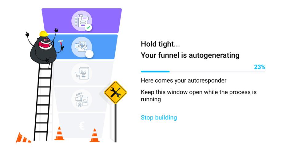 autogenerator stop screen.