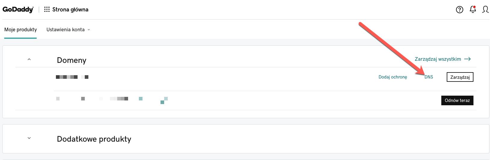 Konfiguracja DNS GoDaddy.
