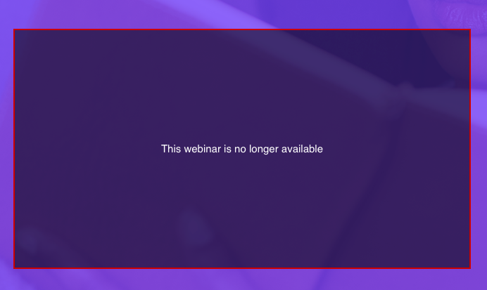 Webinar not available