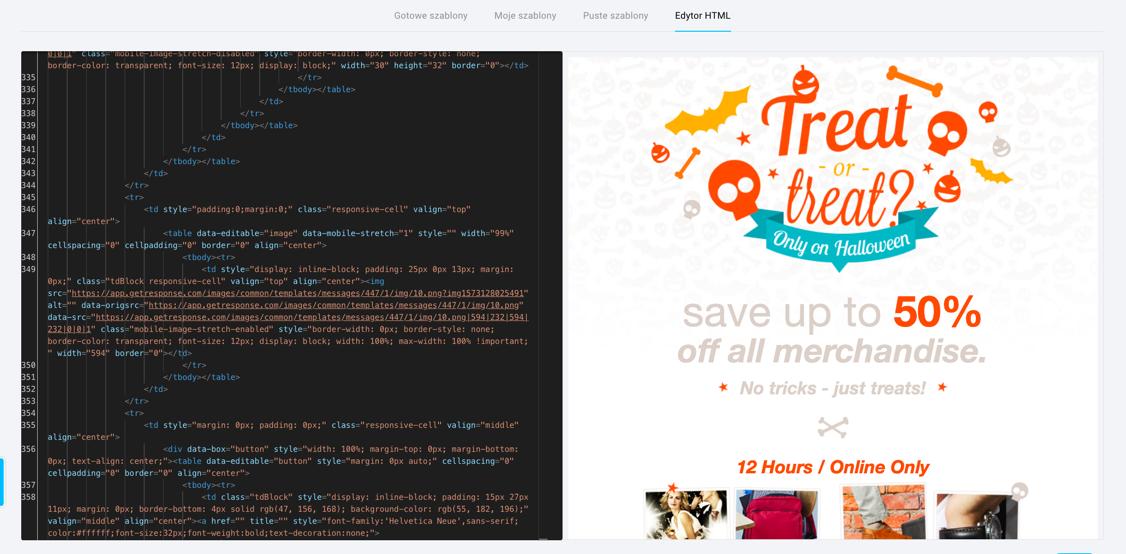 Edytor HTML.