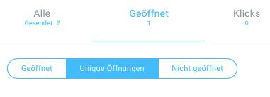 Nachrichtenstatistik Unique Öffnungen.