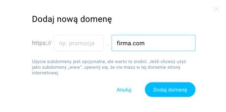 Wpisz nazwę domeny.