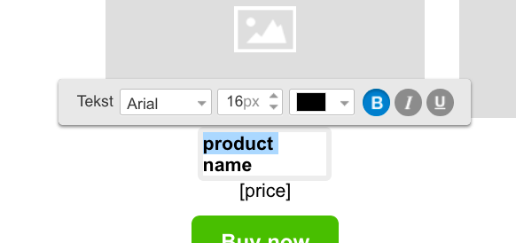 Menu formatowania pola tekstowego.