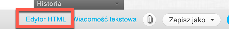 Link do edytora HTML.
