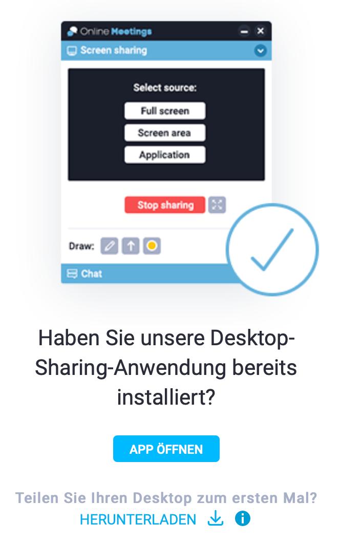 Desktop-Sharing App herunterladen.