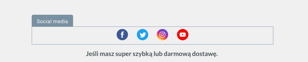 Element socia media.