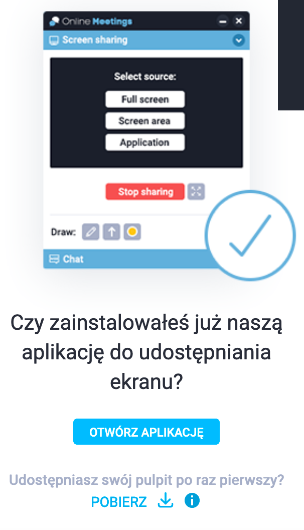 Pobierz aplikację.