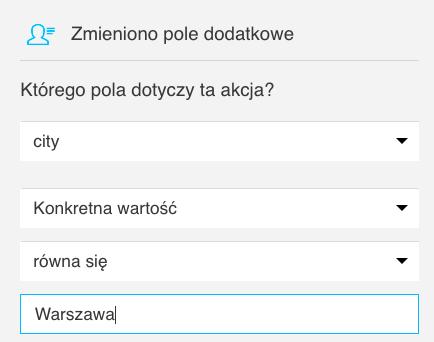 Pole dodatkowe city Warszawa.