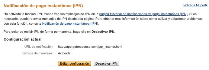 IPN activada.