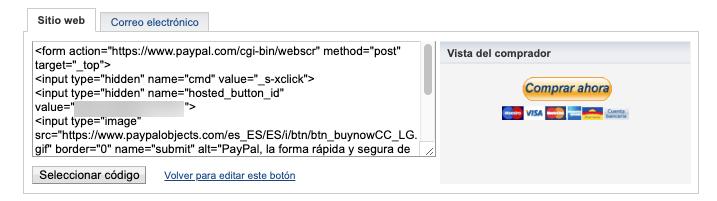 Código HTML.