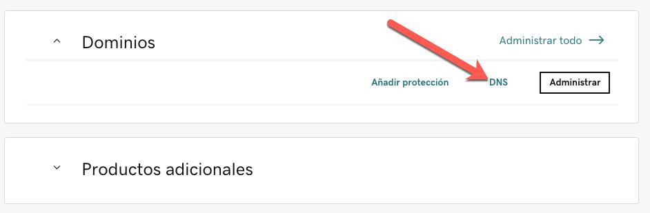 Configuración en GoDaddy.