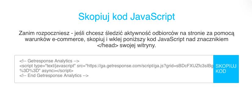 Skopiuj kod JavaScript.