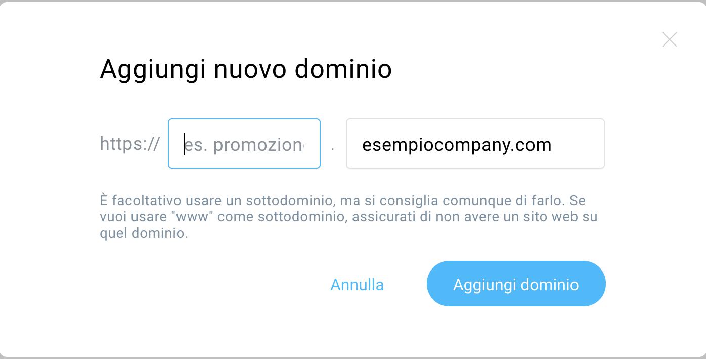 aggiungi nuovo dominio 2