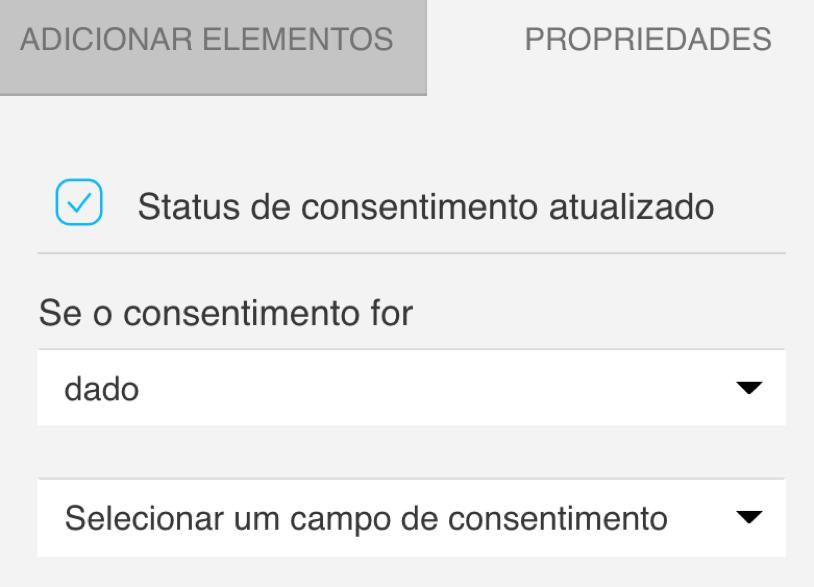 status de consentimento atualizado