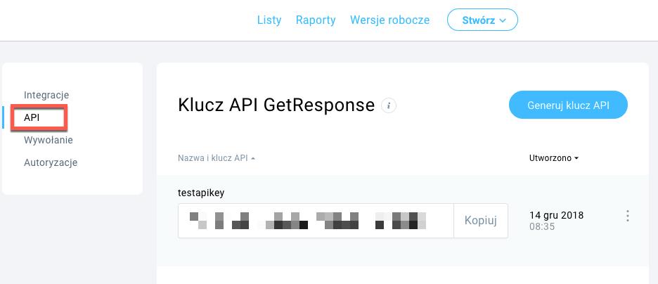 Klucz API