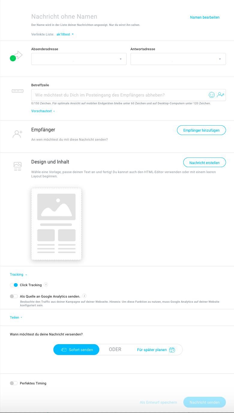 Neuer Editor beta Nachricht erstellen.