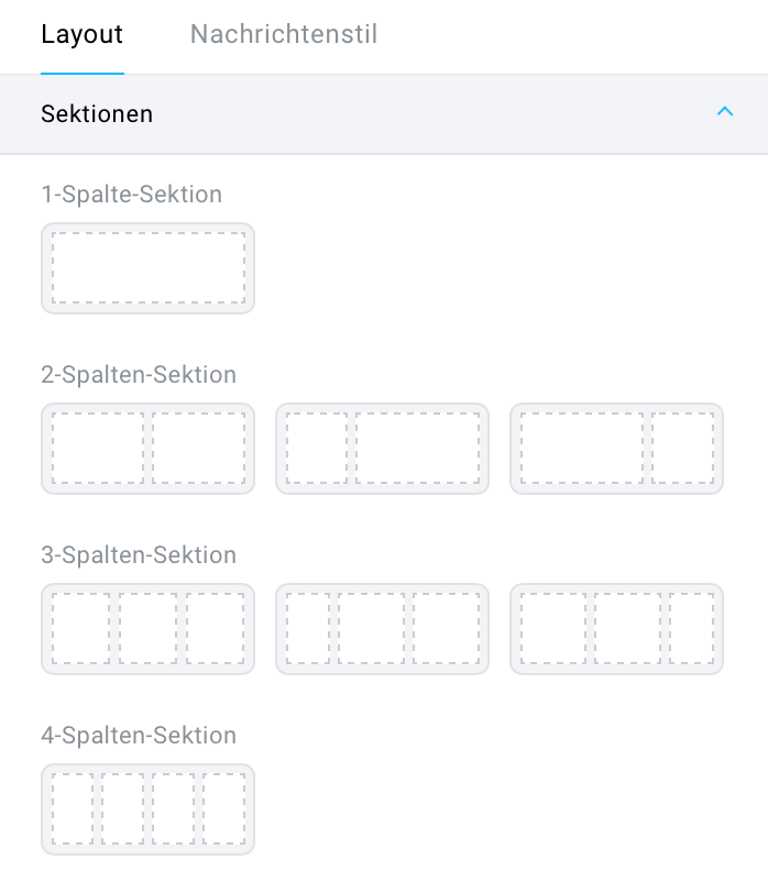 Auswahl Sektion.