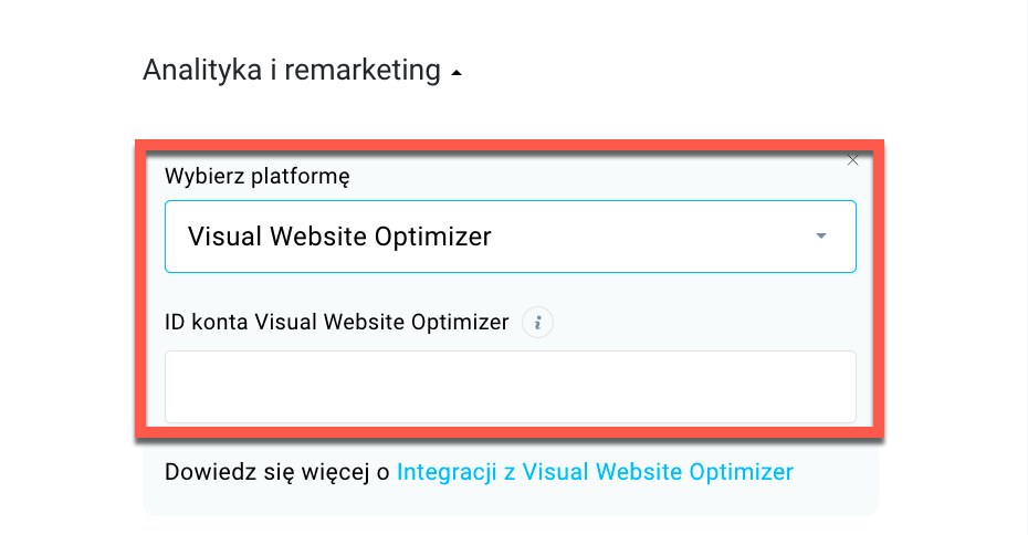ID konta Visual Website Optimizer.