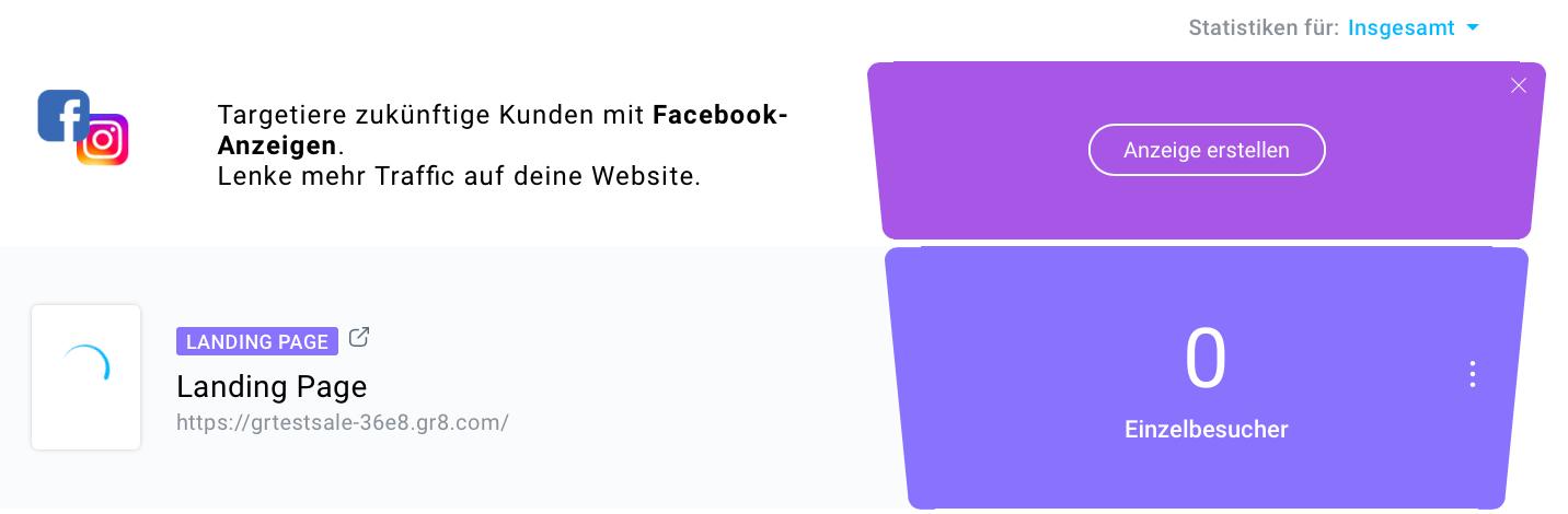 Facebook Anzeige erstellen.