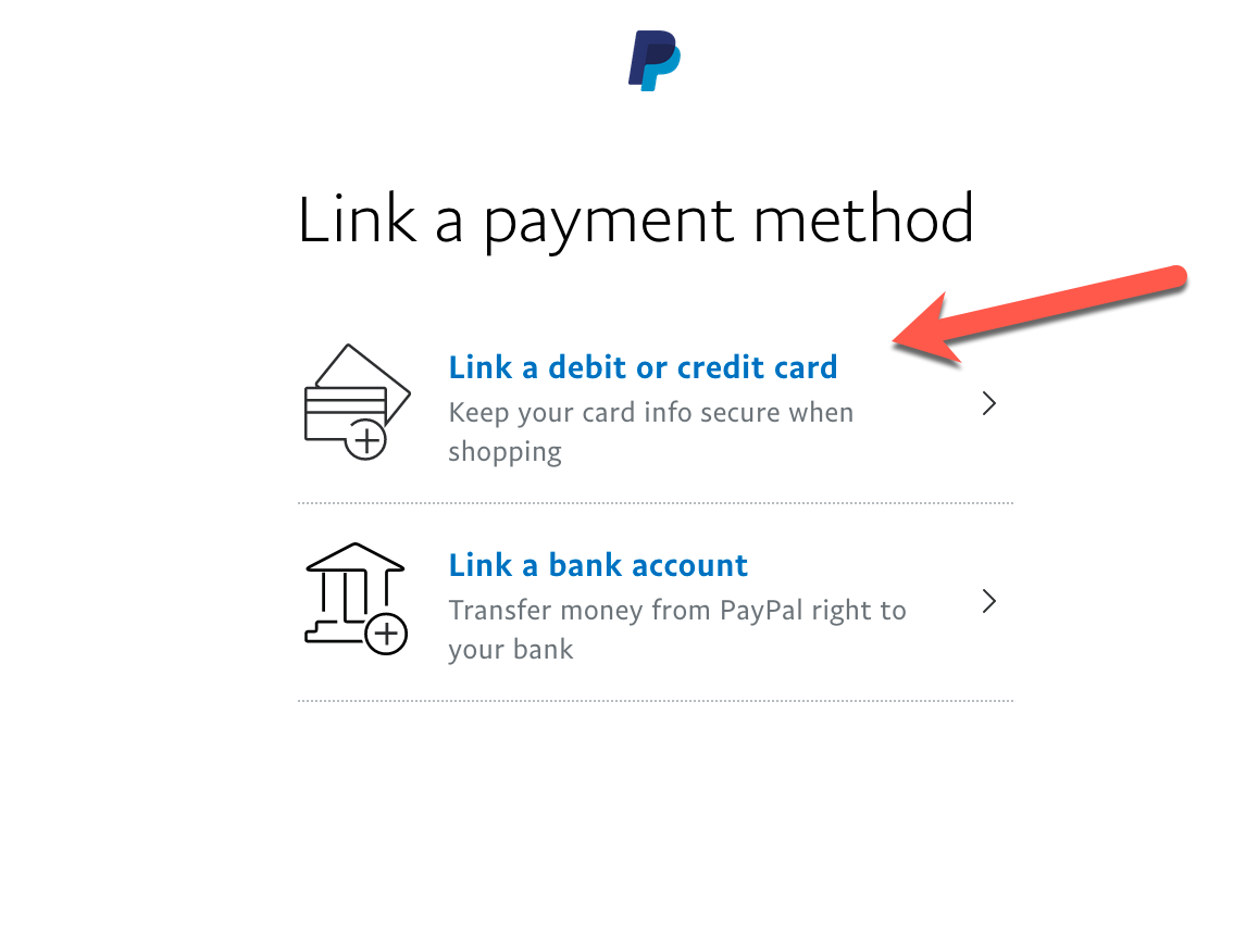 Linking your credit card to PayPal