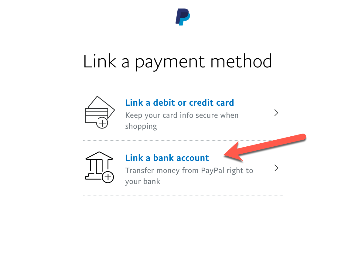 Verifying PayPal via your bank account.