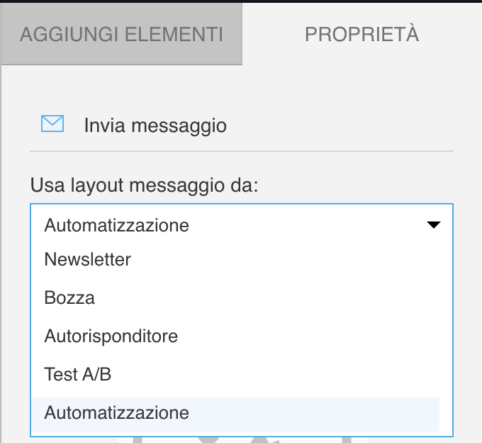 Selecting a message to convert