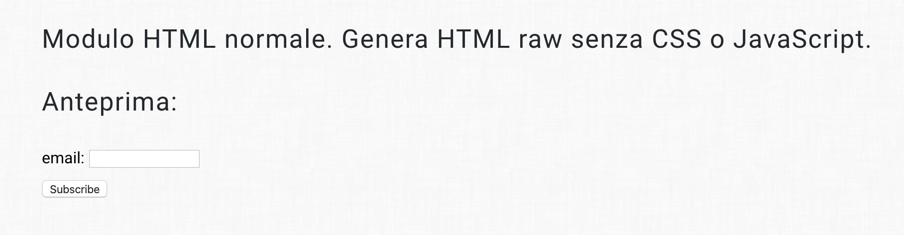 HTML anteprima
