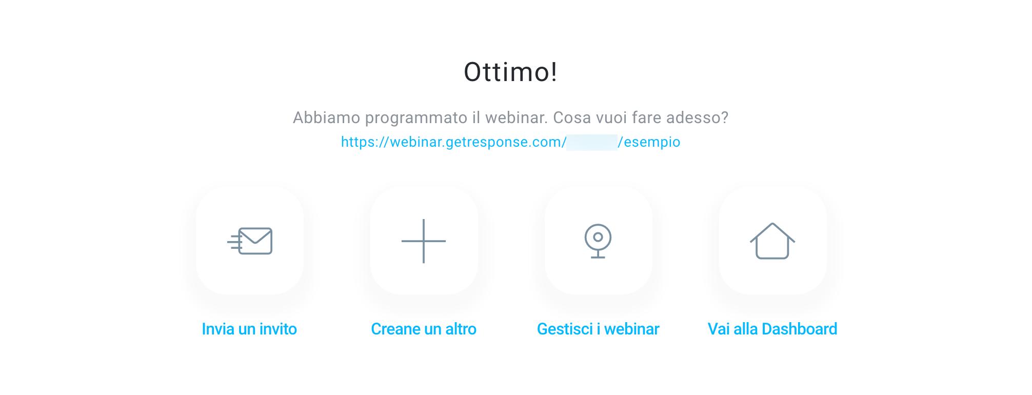 Webinar creato