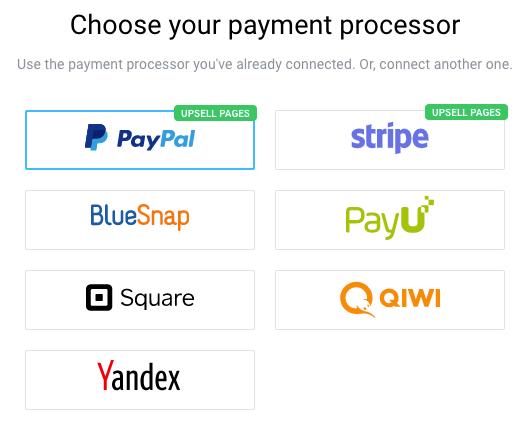 Autofunnel payment processors