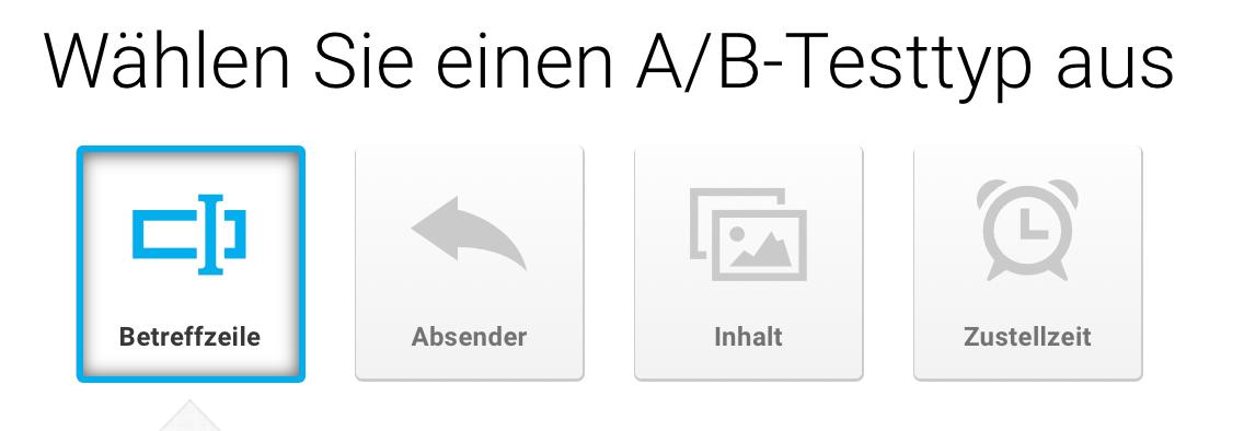 A/B-Testtyp bestimmen.