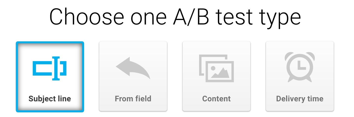 choose ab test.