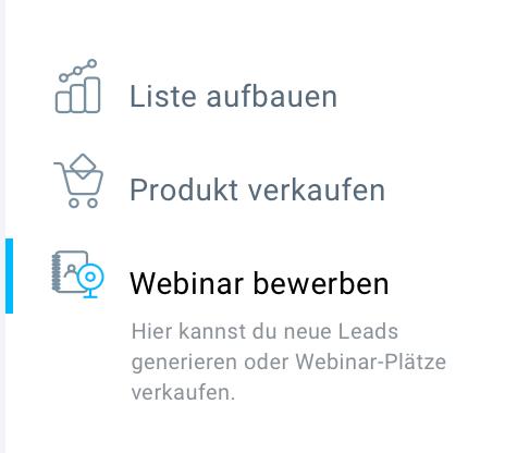 Auswahl Webinar bewerben.