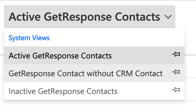 GetResponse contact without CRM contact.