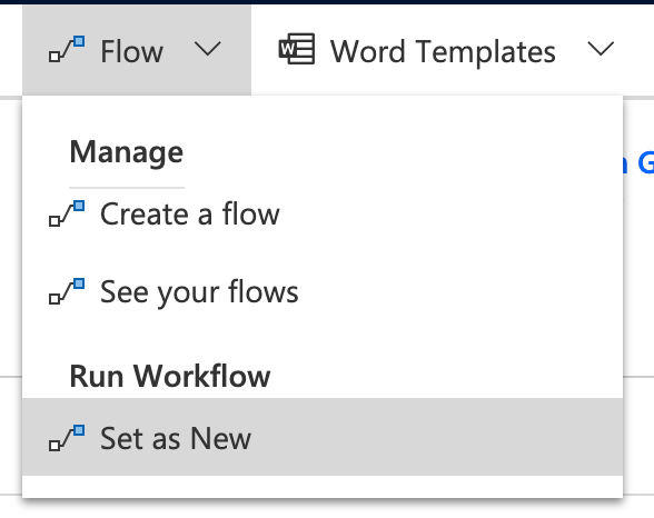 Set flow as new.