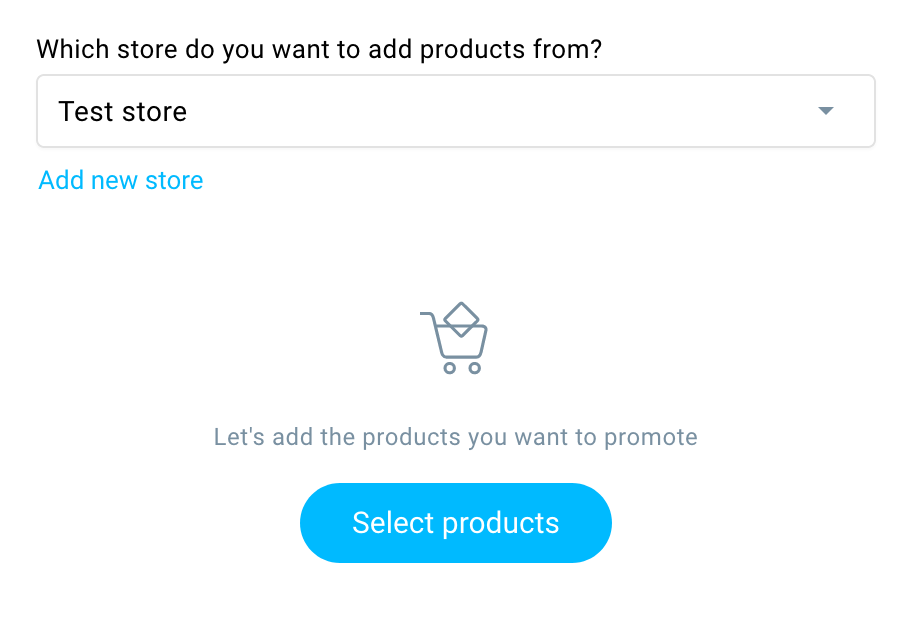 Select products.