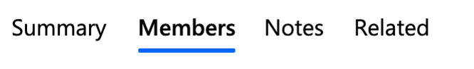 Members menu.