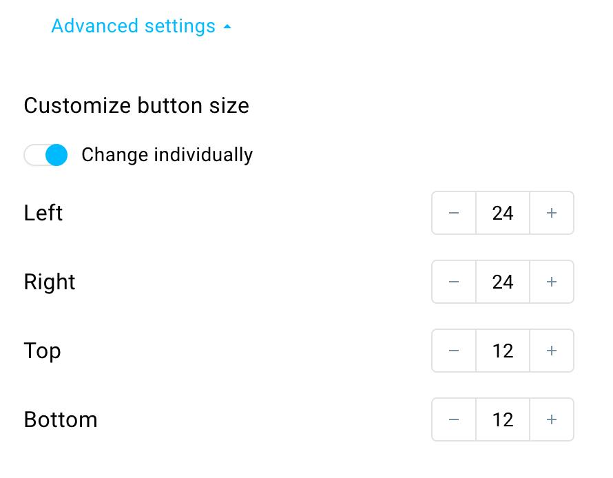 Button size.